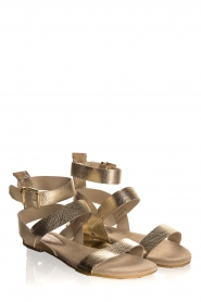 Maluo | Leather sandals Florentina | gold  | Picture 1