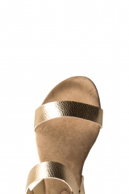Maluo | Leather sandals Florentina | gold  | Picture 5