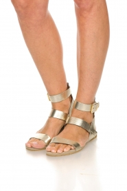 Maluo | Leather sandals Florentina | gold  | Picture 3