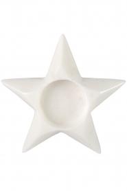 Little Soho Living |  Marble tealight holder Dove Star | white  | Picture 1