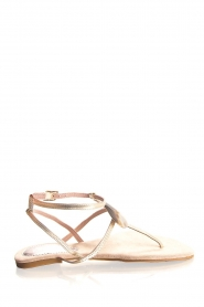 Maluo   Leather sandals Rosetta   gold    Picture 2