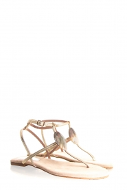 Maluo | Leather sandals Rosetta | gold  | Picture 1