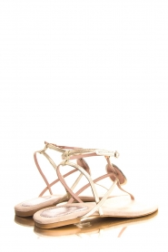 Maluo | Leather sandals Rosetta | gold  | Picture 5