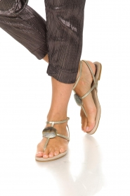 Maluo | Leather sandals Rosetta | gold  | Picture 3