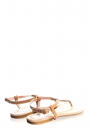 Maluo |  Sandals with glitters Python Print | nude  | Picture 4