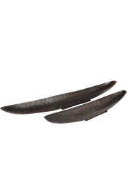 Little Soho Living |  Boat shaped plates Margo - set of 2 | brown  | Picture 1