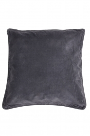 Little Soho Living |  50x50 Velvet cushion cover Adiv | charcoal grey  | Picture 1