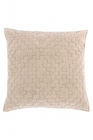Little Soho Living |  50x50 Velvet cushion cover Saffi | beige  | Picture 1