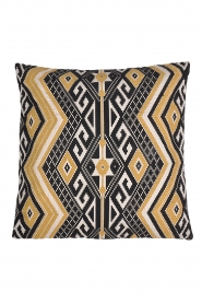 Little Soho Living |  60x60 Printed cushion cover Ally | black & white  | Picture 1