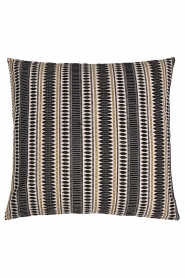 Little Soho Living |  60x60 Embroidered cushion cover Della | black & white  | Picture 1