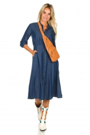 Set |  Denim midi dress Monty | blue  | Picture 3