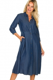 Set |  Denim midi dress Monty | blue  | Picture 2