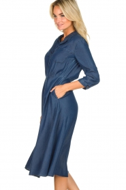 Set |  Denim midi dress Monty | blue  | Picture 4