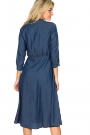 Set |  Denim midi dress Monty | blue  | Picture 5