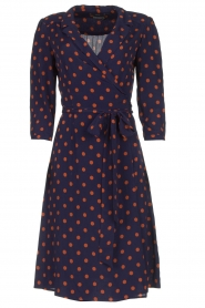 Set |  Dotted wrap dress Mack | blue  | Picture 1