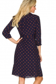 Set |  Dotted wrap dress Mack | blue  | Picture 5