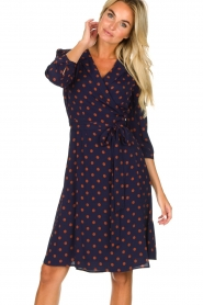 Set |  Dotted wrap dress Mack | blue  | Picture 2