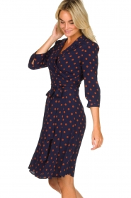 Set |  Dotted wrap dress Mack | blue  | Picture 4