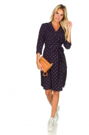 Set |  Dotted wrap dress Mack | blue  | Picture 3