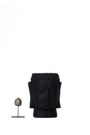 Little Soho Living |  Stone Buddha pot Dolan | black  | Picture 3