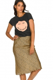 Set |  Leopard printed midi skirt Mowgli | animal print  | Picture 2