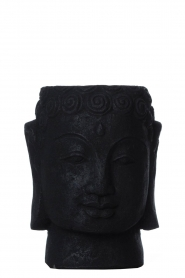 Little Soho Living |  Stone Buddha pot Dolan | black  | Picture 2