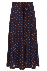 Set |  Dotted maxi skirt Maddison | blue  | Picture 1