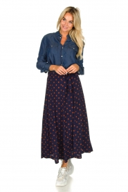 Set |  Dotted maxi skirt Maddison | blue  | Picture 2