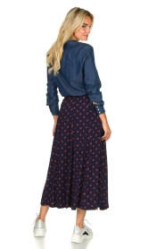Set |  Dotted maxi skirt Maddison | blue  | Picture 5