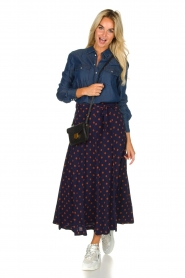 Set |  Dotted maxi skirt Maddison | blue  | Picture 3