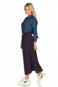 Set |  Dotted maxi skirt Maddison | blue  | Picture 4
