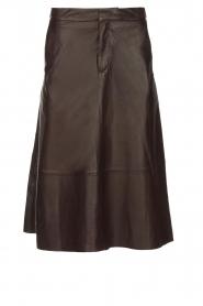 Set |  Leather midi skirt Mojana | black  | Picture 1
