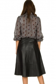 Set |  Leather midi skirt Mojana | black  | Picture 5