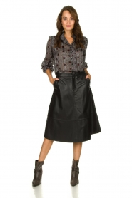 Set |  Leather midi skirt Mojana | black  | Picture 3