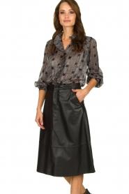 Set |  Leather midi skirt Mojana | black  | Picture 2