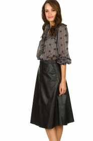 Set |  Leather midi skirt Mojana | black  | Picture 4