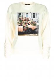 Set | Sweatshirt met opdruk Mully | naturel  | Afbeelding 1