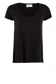 American Vintage |  Basic V-neck T-shirt Jacksonville | black  | Picture 1