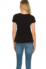 American Vintage |  Basic V-neck T-shirt Jacksonville | black  | Picture 4