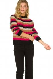 Set |  Striped sweater Mawa | black  | Picture 4