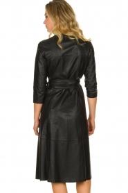 Set |  Leather midi dress Meryam | black  | Picture 5