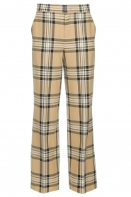 Set |  Checkered trousers Murielle | camel  | Picture 1