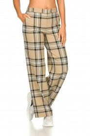 Set |  Checkered trousers Murielle | camel  | Picture 4