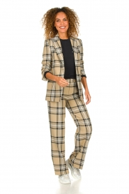 Set |  Checkered trousers Murielle | camel  | Picture 7