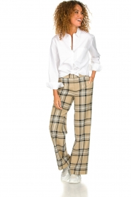 Set |  Checkered trousers Murielle | camel  | Picture 3