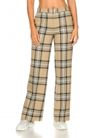 Set    Checkered trousers Murielle   camel    Picture 4