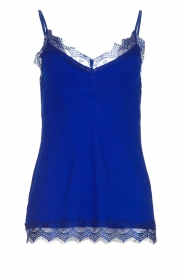 Set |  Sleeveless top with lace Chenna | blue