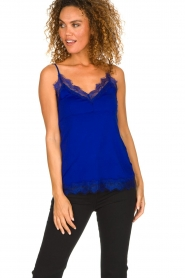 Set |  Sleeveless top with lace Chenna | blue  | Picture 2