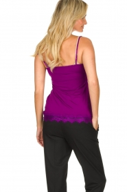 Set |  Sleeveless top with lace Chenna | purple  | Picture 5