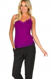 Set |  Sleeveless top with lace Chenna | purple  | Picture 2